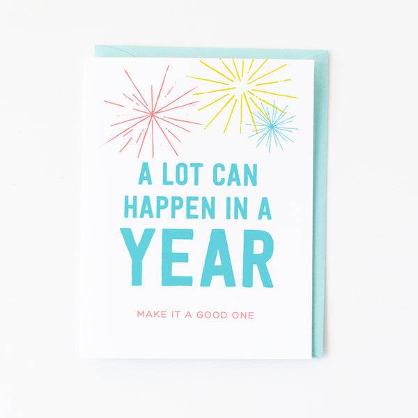 A Lot Can Happen In A Year Card