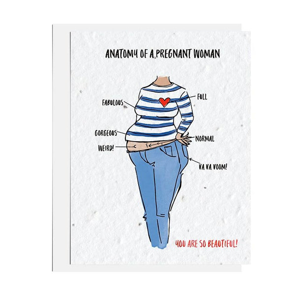 Anatomy of a Pregnant Woman Seed Card