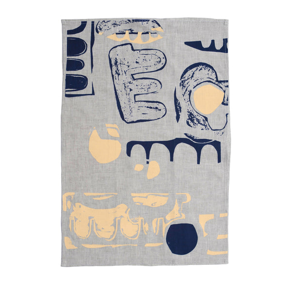 Navy & Apricot Hero Tea Towel