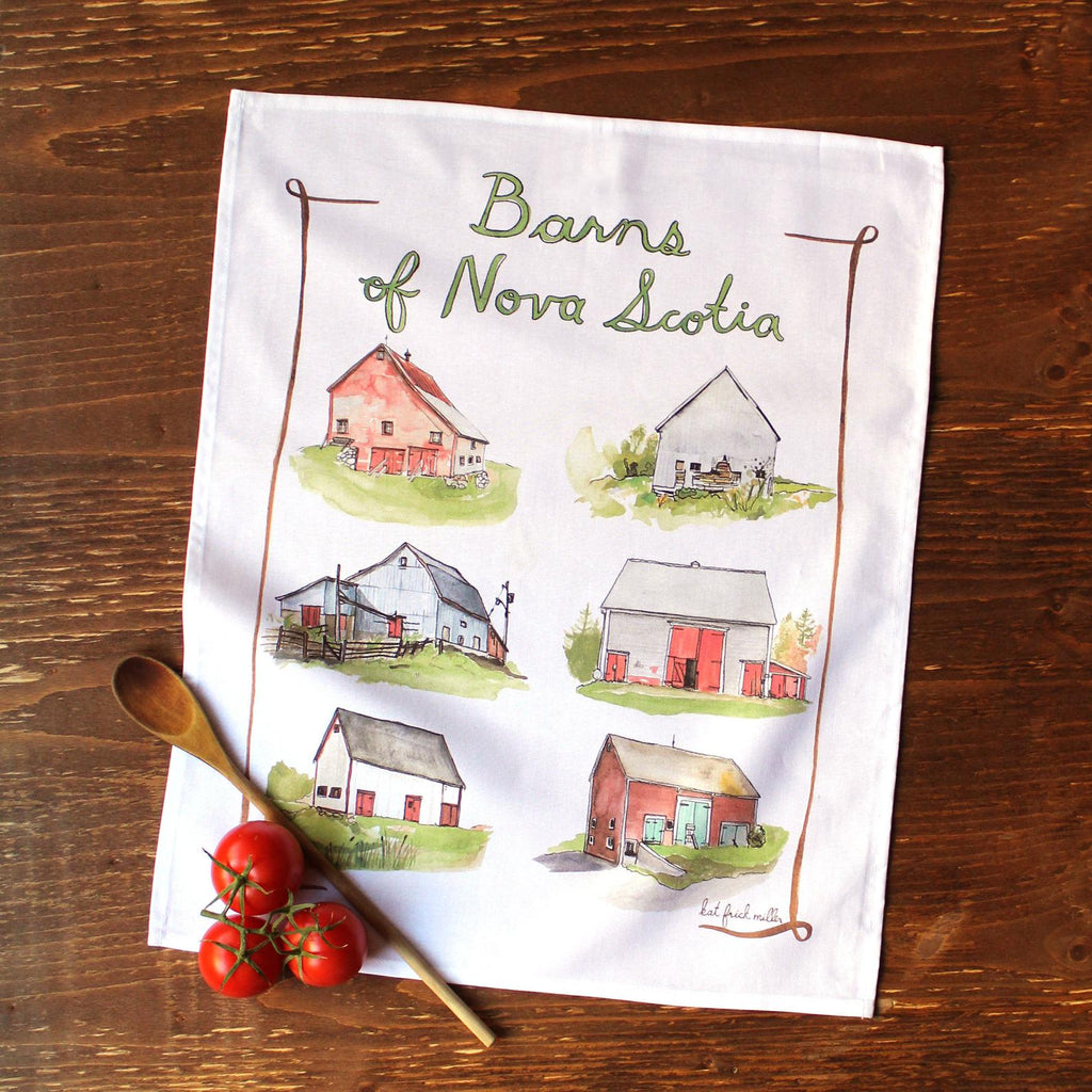 Barns of Nova Scotia Tea Towel