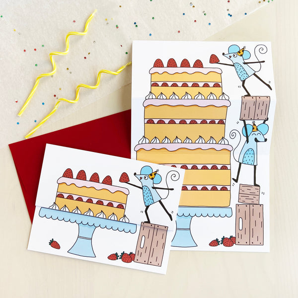 Big Cake Unfolding Card