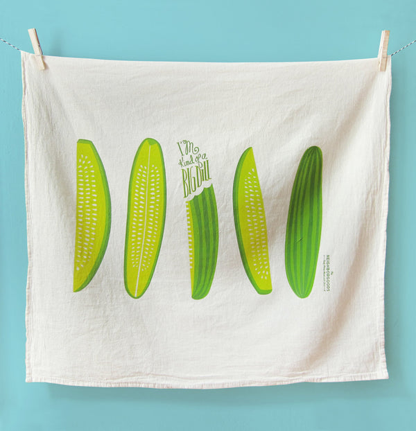 Big Dill Pickle Tea Towel