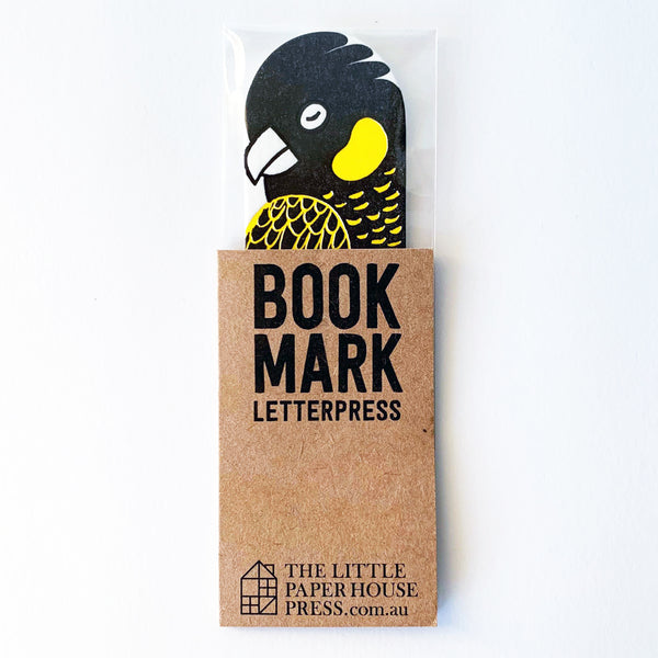 Yellow Tailed Black Cockatoo Bookmark
