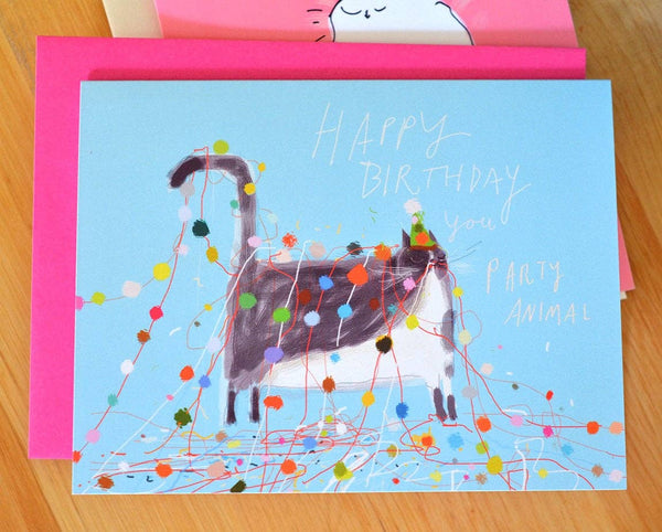 Birthday Party Animal Card