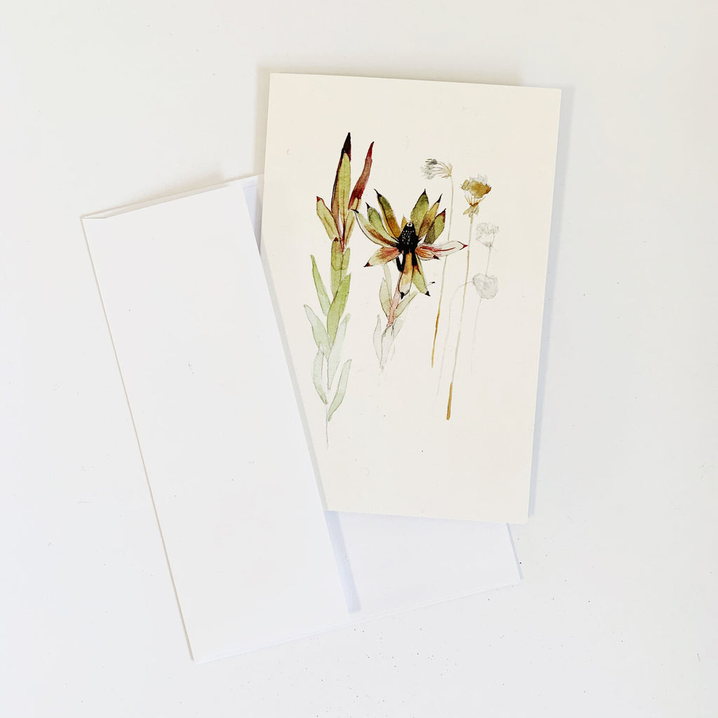 Dried Flowers Card