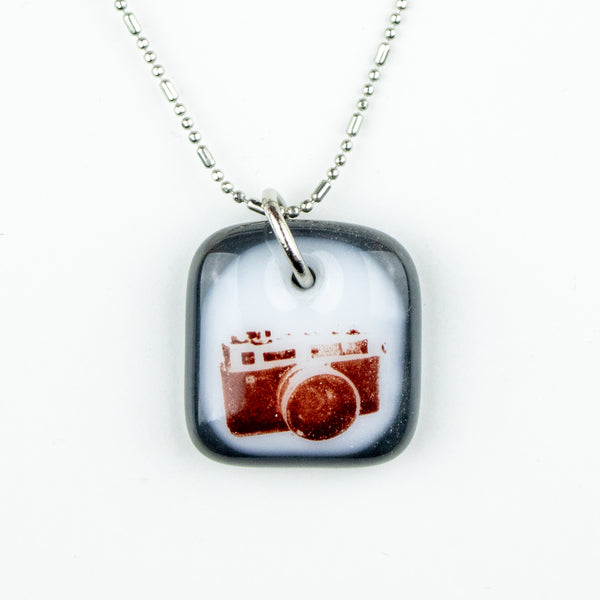 Glass Pendant - Camera