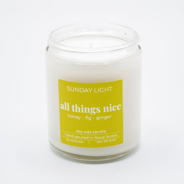 All Things Nice 8oz Soy Candle
