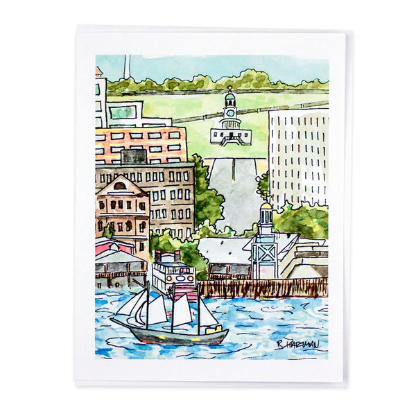 Halifax Waterfront Card by Bard