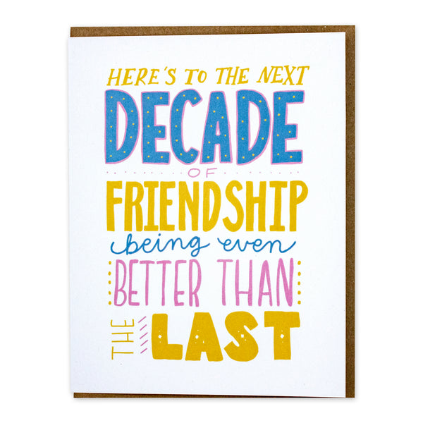 Decade of Friendship Card