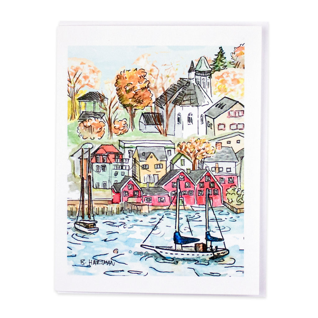 Lunenburg Waterfront Card by Bard