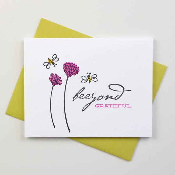 Beeyond Grateful Card