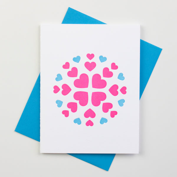 Heart Flake Card