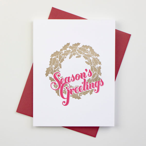 Season's Greetings Christmas Card