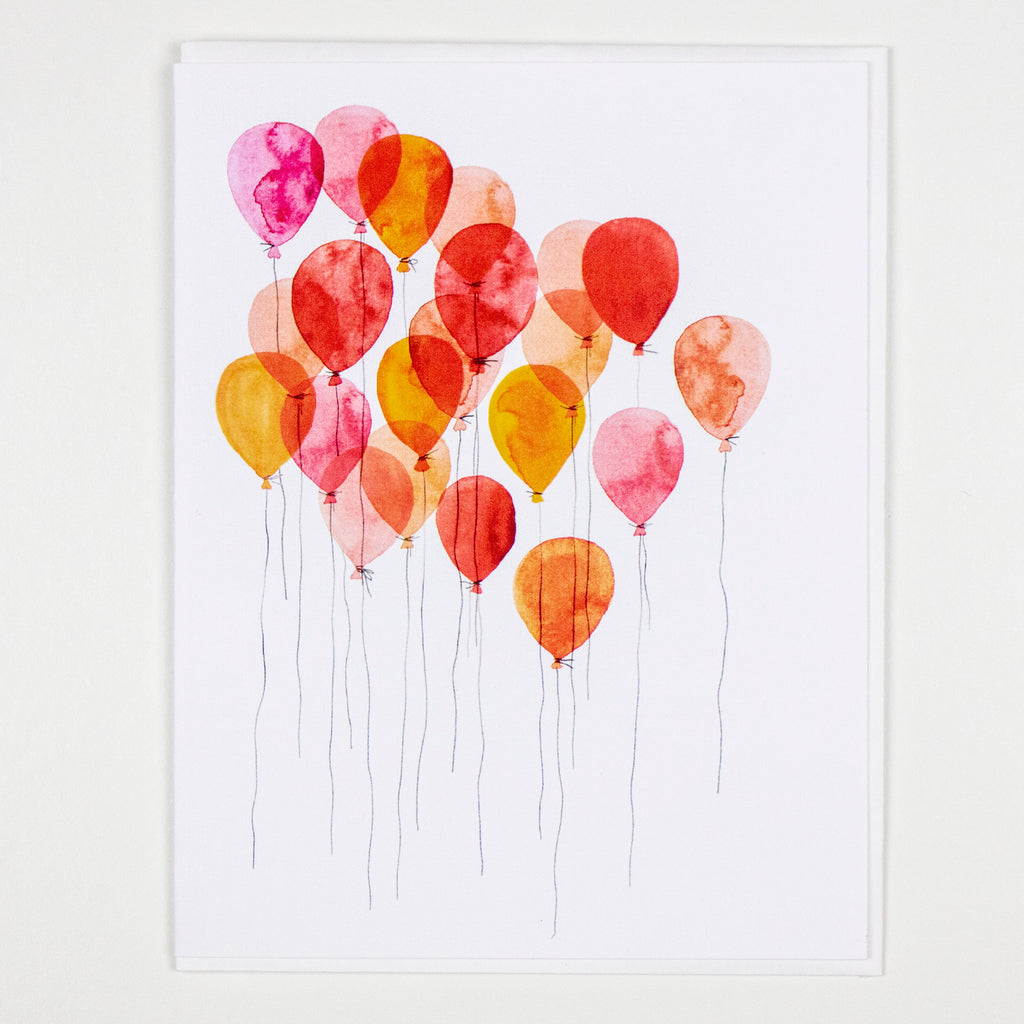 Balloon Cluster Card