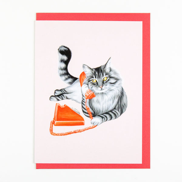 Cat Phone Card