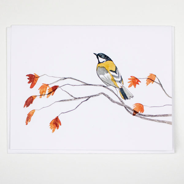Fall Chickadee Card