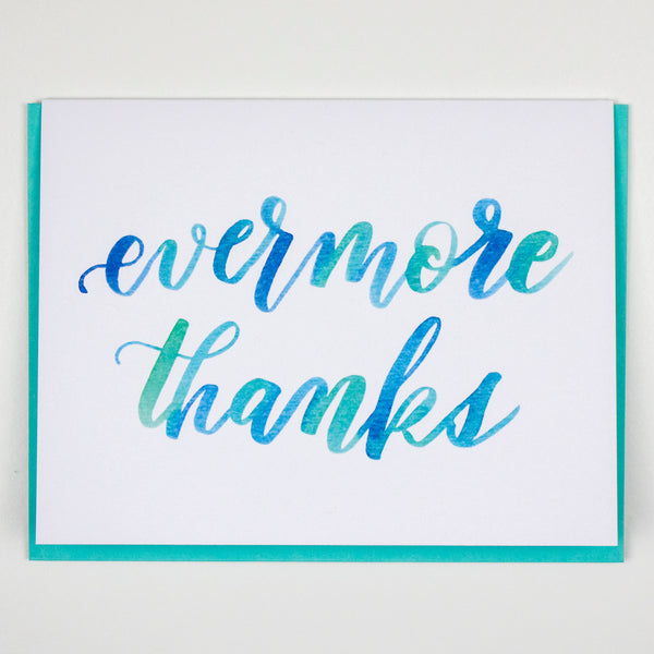 Evermore Thanks Card