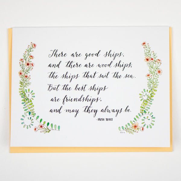 Best Ships Are Friendships Card