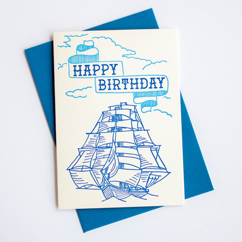 Tall Ship Birthday Card