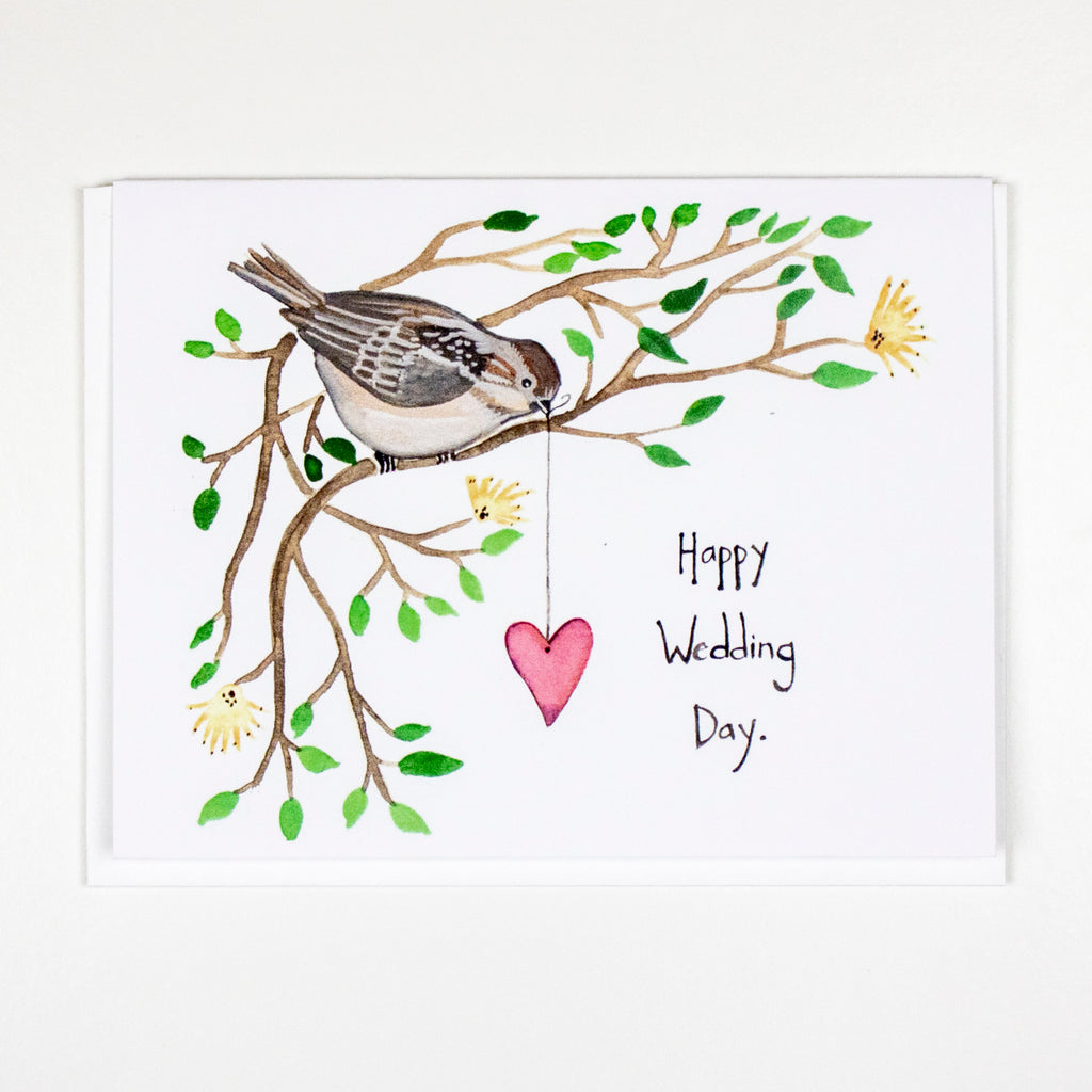 Chickadee Wedding Card