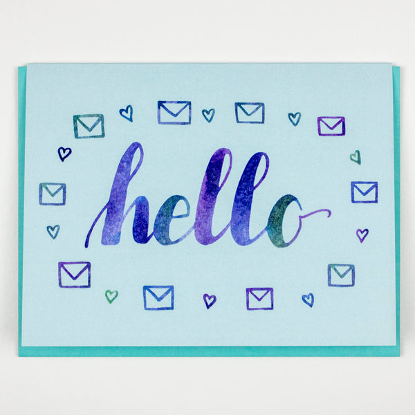Hello Letter Card