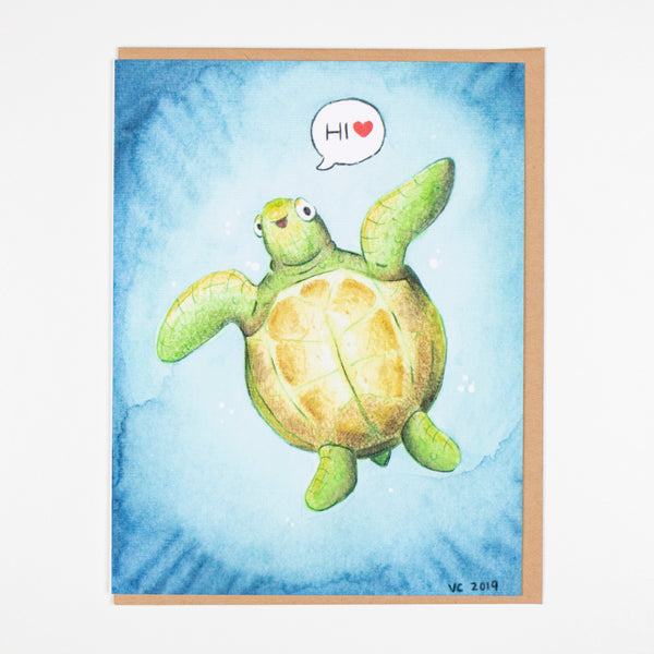 Hi, Friend Turtle Card