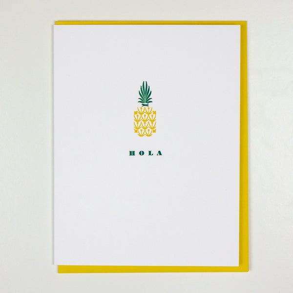 Hola Pineapple Card