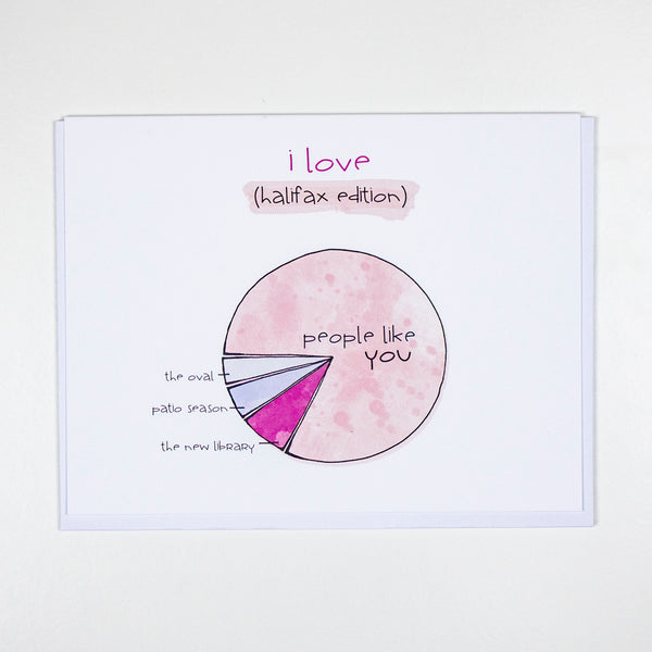 I Love Halifax Piechart Gratitude Card