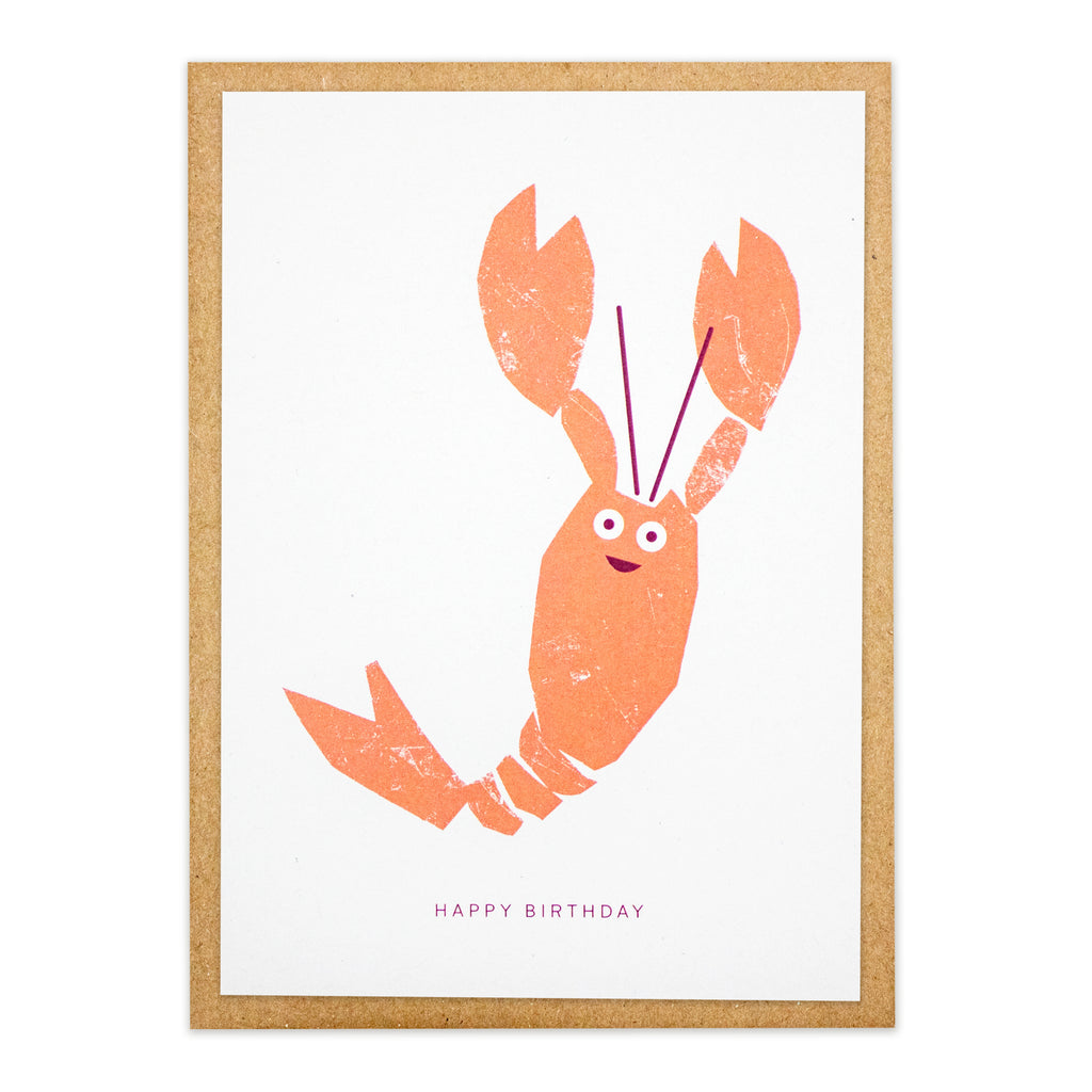 Kautzi Lobster Birthday Card