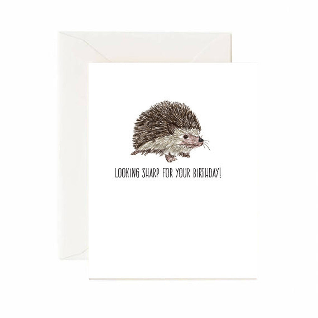 Looking Sharp Hedgehog Birthday Card