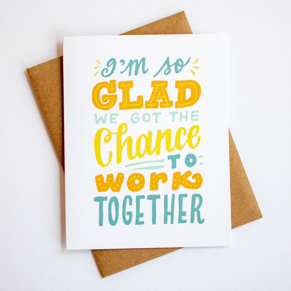 Work Together Farewell Card