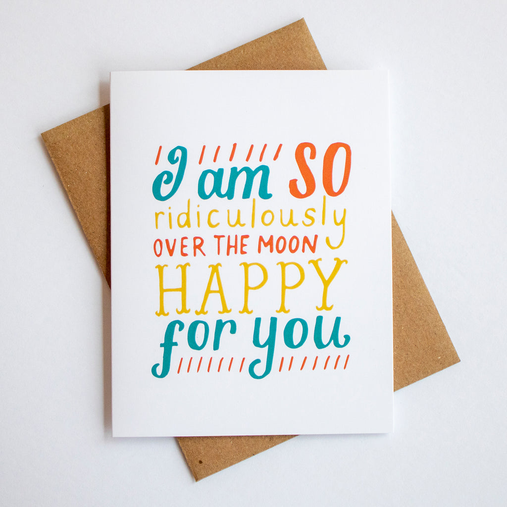 Ridiculously Over The Moon Card