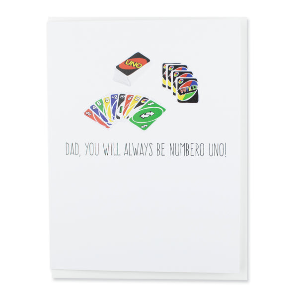 Numbero Uno Dad Card