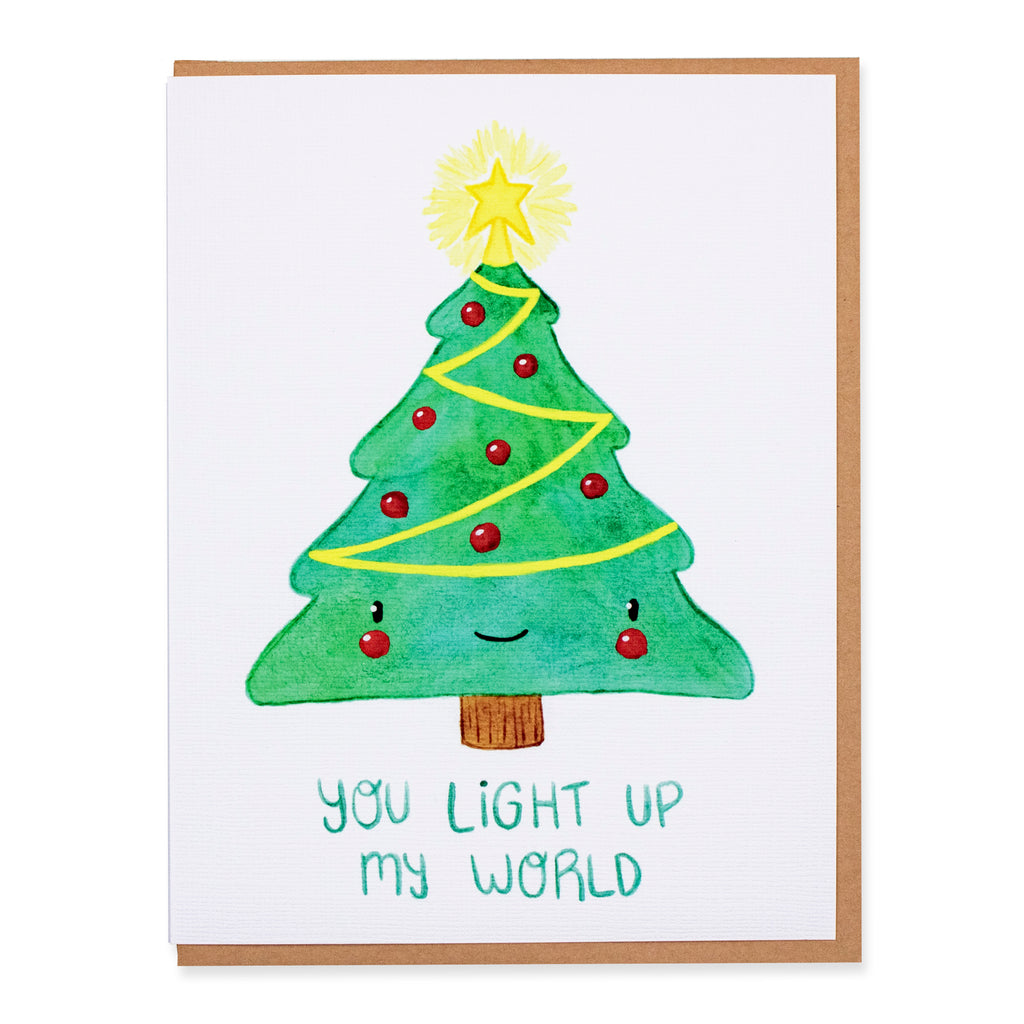 You Light Up My World Card