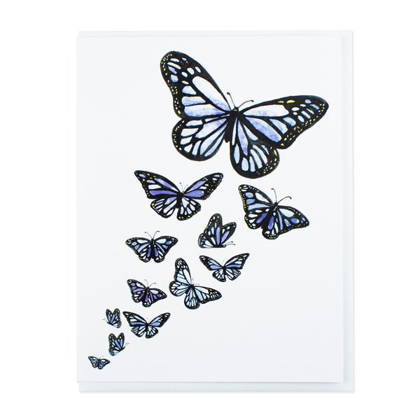 Blue Butterflies Card