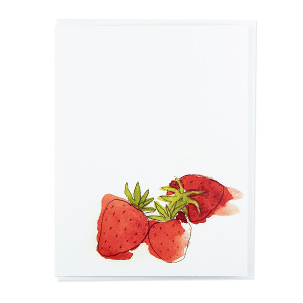Little Foible Strawberries Card