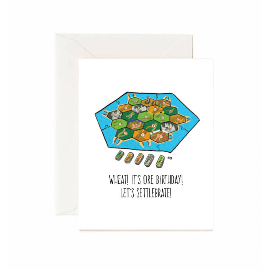 Settlers of Catan Birthday Card