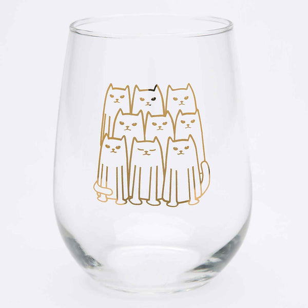 Cats Stemless Wine Glass