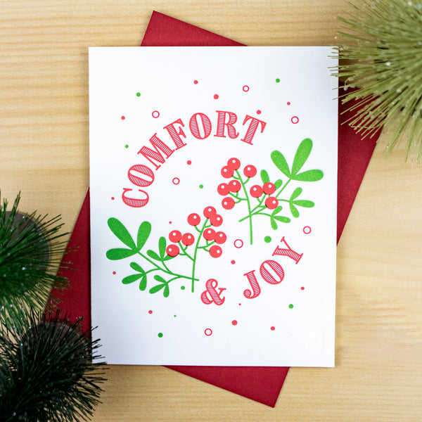 Holly & Berries Card