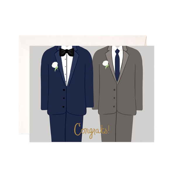 Grooms Congrats Wedding Card