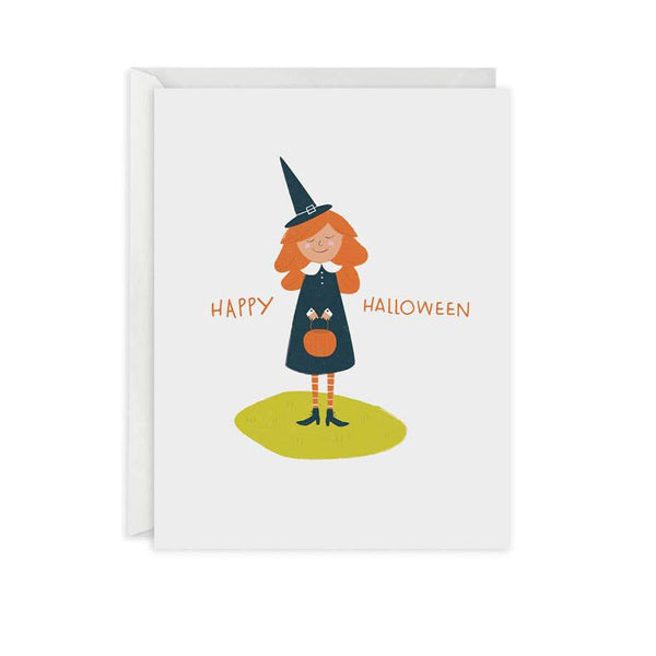 Cute Witch Halloween Card