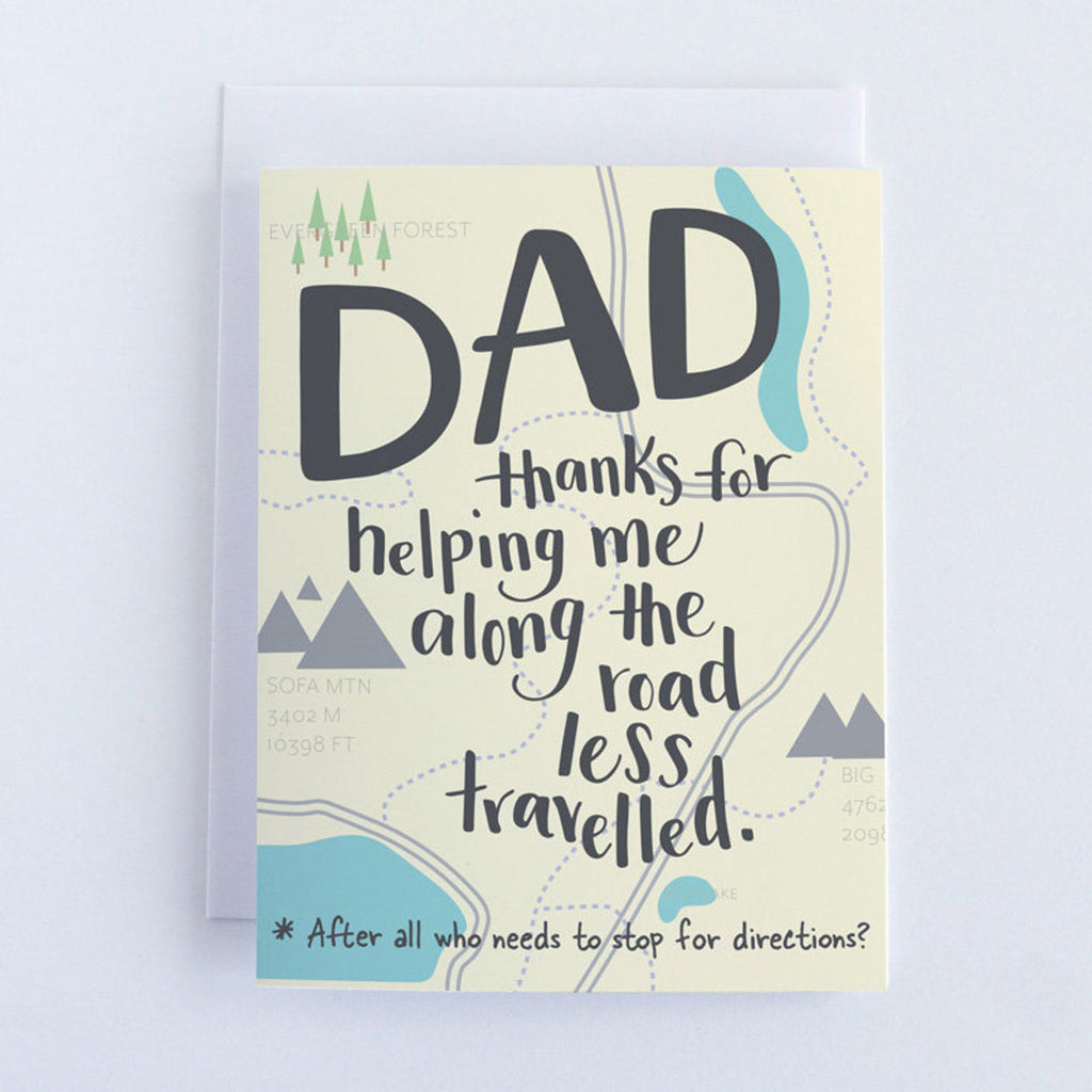 Road Less Travelled Dad Card