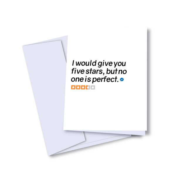 No One's Perfect Card