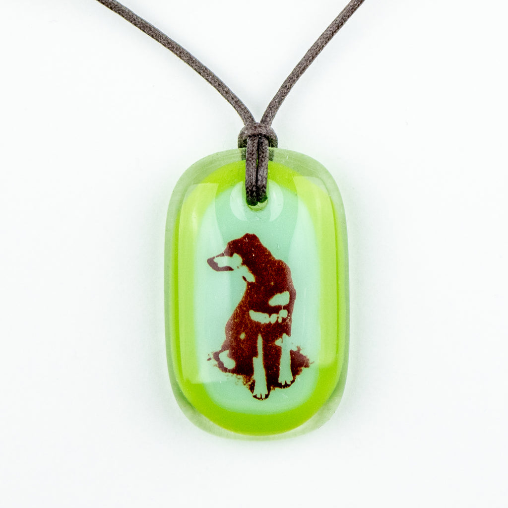 Glass Pendant - Dog