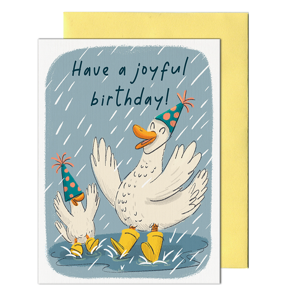Duck Puddles Birthday Card