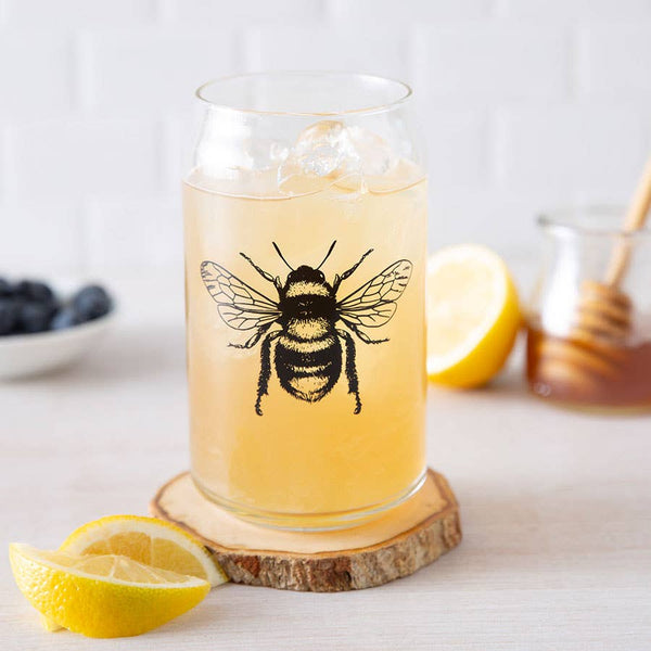 Honey Bee Can Glass