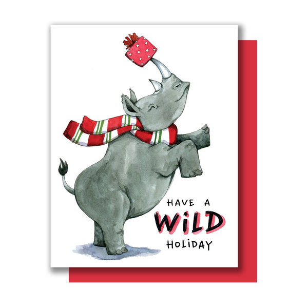 Rhino Holiday Card Boxset (8)