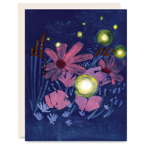 Fireflies & Flowers Card
