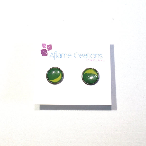 Avocado Circle Stud Earrings