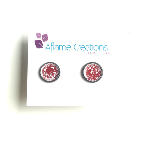 Marbled Stud Earrings